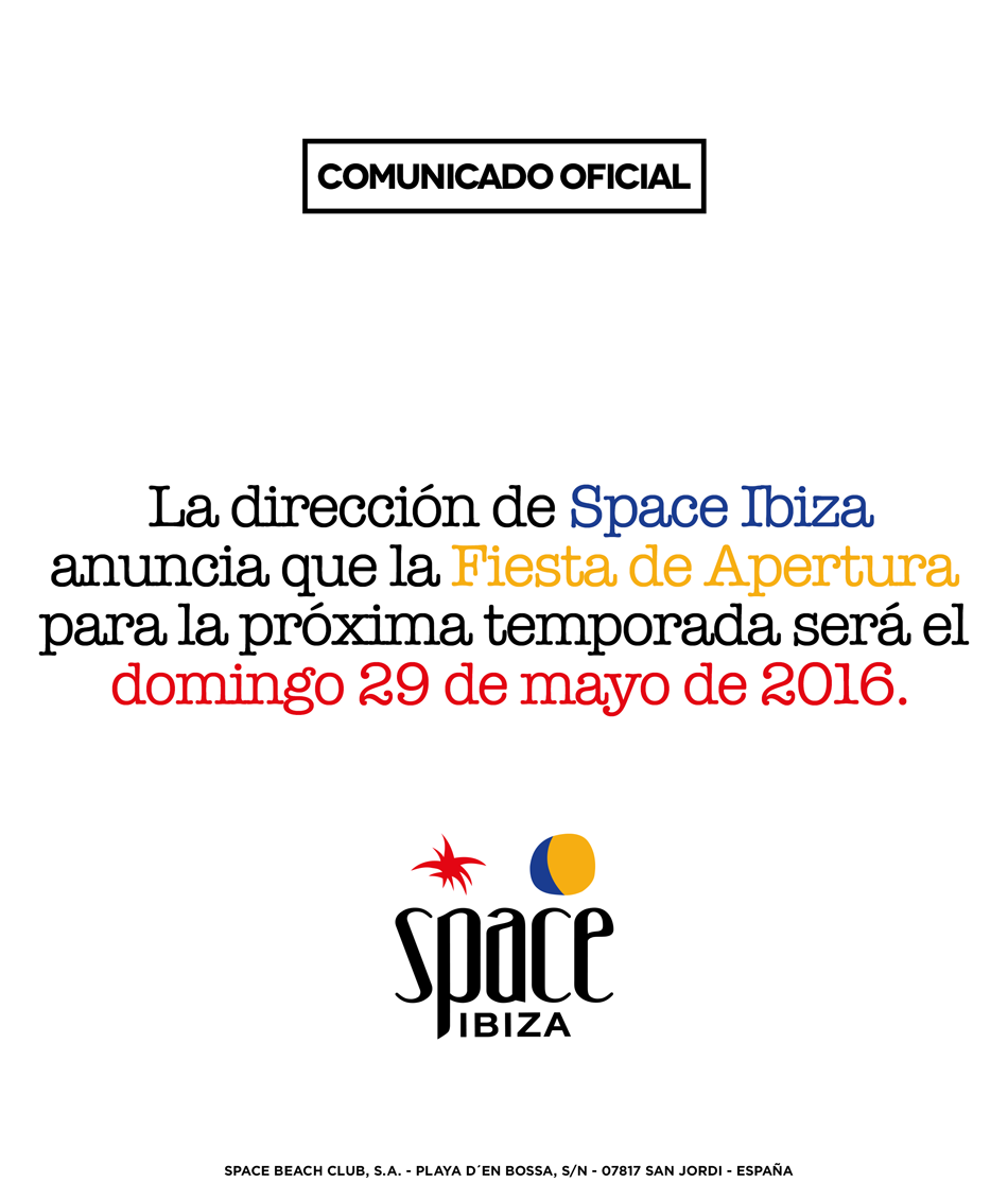 Space Ibiza Opening 2016