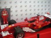 Space Ibiza offers the possibility to see in exclusive the red formula 1tm  car of Spanish World Champion