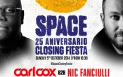Starting at 7AM, special b2b set by Carl Cox and Nic Fanciulli in the Space Closing Fiesta